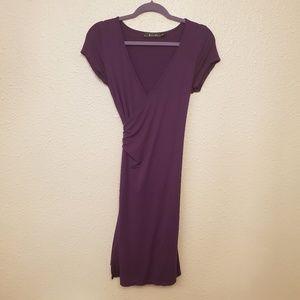 Neesha purple wrap dress